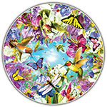HUMMINGBIRDS ROUND TABLE ALLOW 4-5 DAYS SHIPPING