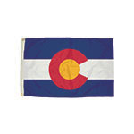 3X5 NYLON COLORADO FLAG H ALLOW 4-5 DAYS SHIPPING