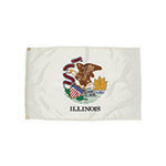 3X5 NYLON ILLINOIS FLAG H ALLOW 4-5 DAYS SHIPPING