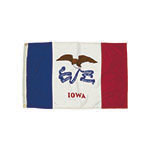 3X5 NYLON IOWA FLAG HEADI ALLOW 4-5 DAYS SHIPPING