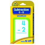 Subtraction flash cards are pretty cool, because they help equip for school!  Ma